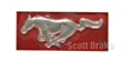 67-68 RED RUNNING HORSE EMBLEM FOR INSTRUMENT PANEL TRIM