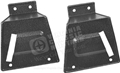 67-68 Mustang Fastback Rear Seat Latch Cover - Use with Fixed Rear Seat - Pair