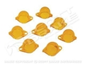 67-68 INSTRUMENT LIGHT COVER SET-YELLOW/AMBER