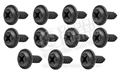 REAR VALANCE SCREW SET (RAISED HEAD) BLACK FINISH