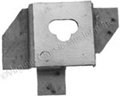 67-73 PARKING BRAKE IDLER BRACKET (WELDS TO FRONT FLOOR PAN)