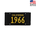 1966 California License Plate - Embossed