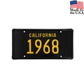 1968 California License Plate - Embossed