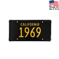 1969 California License Plate - Embossed