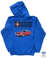 VIRGINIA CLASSIC MUSTANG HOODED SWEATSHIRT WITH 1965 MUSTANG CONVERTIBLE DESIGN LOGO *SPECIFY SIZE*