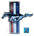 MUSTANG RUNNING HORSE EMBLEM METAL SIGN