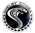 SHELBY COBRA ROUND DISK METAL SIGN - 69-70 STYLE - 12""