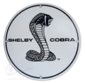 SHELBY COBRA ROUND DISK METAL SIGN - 67-68 STYLE - 12""