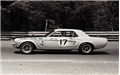 JERRY TITUS 67 MUSTANG RACE CAR 11 X 17 METAL SIGN