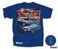 BLUE MUSTANG GAS STATION T-SHIRT *INDICATE SIZE*
