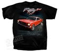 BLACK MUSTANG T-SHIRT WITH 65 RED COUPE ON BACK *INDICATE SIZE*