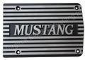 "FINNED ALUMINUM AIR CONDITIONING COMPRESSOR COVER  ""MUSTANG"" MATTE FINISH FINS"