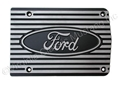 "FINNED ALUMINUM AIR CONDITIONING COMPRESSOR COVER    ""FORD"" MATTE FINISH FINS"