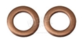 COPPER WASHERS FOR MUSTANG FRONT BRAKE HOSES - SET OF 2