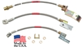 68-69 BRAIDED BRAKE HOSE SET-2 FRONT DISC HOSES AND REAR DRUM HOSE FOR 31 SPLINE REAR END
