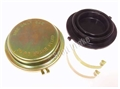 65-66 DISC BRAKE MASTER CYLINDER CAP WITH GASKET (GOLD ZINC PLATING)