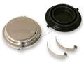 65-66 CHROME DISC BRAKE MASTER CYLINDER CAP WITH GASKET