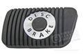 EARLY 65 DISC BRAKE PEDAL PAD WITHOUT GROOVE FOR STAINLESS STEEL TRIM - STD TRANS