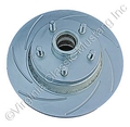 70-73 LH FRONT DISC BRAKE ROTOR SLOTTED AND PLATED