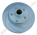 70-73 RH FRONT DISC BRAKE ROTOR SLOTTED AND PLATED