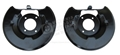 65-66 MUSTANG FRONT DISC BRAKE SPLASH SHIELDS PAIR (CORRECT STYLE)