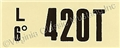 69-70 428 CJ MT ENGINE CODE DECAL  420T