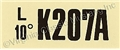 70 351W-2V ENGINE CODE DECAL  K207A