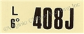 68 GT-500KR MT/ 68 428 CJ ENGINE CODE DECAL 408J