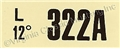 67-68 390 MT ENGINE CODE DECAL  322A