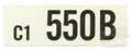 64 1/2 289-4V AUTO TRANS ENGINE CODE DECAL 550B