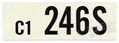 66 289 HIPO AUTO TRANS ENGINE CODE DECAL 246S