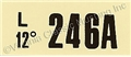 67 289 HIPO AT ENGINE CODE DECAL 246A