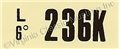 67-68 289-2V MT ENGINE CODE DECAL   236K