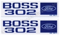 70 BOSS 302 VALVE COVER DECALS WITH ENGINEERING NUMBER-PAIR  *CONCOURS*