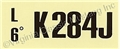 68 302-4V-AT-K284J ENGINE CODE DECAL