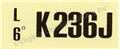 68 289-2V-AT-K236J ENGINE CODE DECAL