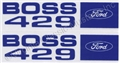 69-70 BOSS 429 VALVE COVER DECALS-PAIR