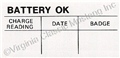 65-73 BATTERY OK DECAL