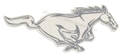 "RH SILVER RUNNING HORSE DECAL 8""  DZ-250"