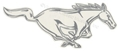 "RH SILVER RUNNING HORSE DECAL 12""  DZ-"