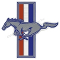 "LH RUNNING HORSE EMBLEM DECAL 7""  DZ-255"
