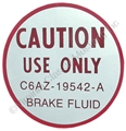 66 DISC BRAKE MASTER CYLINDER DECAL