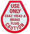 67 DISC BRAKE MASTER CYLINDER DECAL