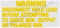 64 1/2 VOLTAGE REGULATOR WARNING DECAL-PAIR