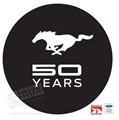MUSTANG 50TH ANNIVERSARY WINDOW DECAL