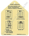 64 1/2-65 HEATER INSTRUCTION TAG