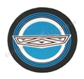 65-66 BLUE CENTER WIRE WHEEL COVER DECAL