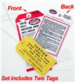 65-66 ANTIFREEZE AND NEW CAR TAGS-PAIR
