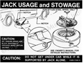 69-70 JACK INSTRUCTION WITH STYLED STEEL WHEELS DECAL