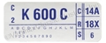 73 351-2V WITH AIR CONDITIONING ENGINE CODE DECAL K600C